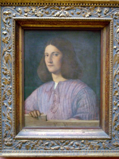 40 – Gemaldegalerie. Giorgione. Ritratto giovanile.