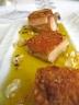 """""""Antipasto – primo e secondo"""" di maialino di latte con mostarda senapata e contorni di tradizione. [un particolare del """"secondo""""] (Philippe Leveillè, Miramonti l'Altro, Concesio)"""
