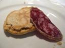 Crescente e salame, Osteria del Sole, Zocca (MO)